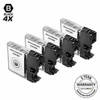 4PK LC61BK for Brother LC61 BLACK Inkjet Cartridge MFC-990CW DCP-585CW DCP-375CW