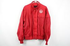 Vintage 80s Cadillac Mens Large NASCAR Michigan 500 Spell Out Bomber Jacket Red