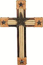 "Western Lone Star 15"" Wooden Wall Cross Home Decor"