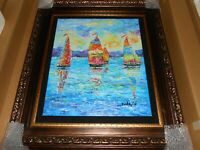"DUAIV ""PRIMARY SAILS"" NUMBERED SIGNED HAND EMBELLISHED GICLEE IN COLOR ON CANVAS"