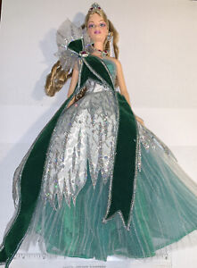 2005 Holiday Barbie Bob Mackie Green Complete Newly Unboxed(581)