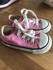 Pink Infant Converse Size 4