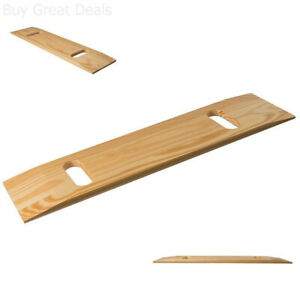 Wood Transfer Board Wheelchair Patient Slide Board Two Handle Mobility Furniture