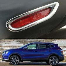Chrome Rear Fog Lamps Light Frame Cover Trim Fit for Nissan Qashqai 2014-2016