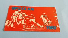 1980 CIAU/CIS/USPORTS FOOTBALL SIMON FRASER CLANSMEN POCKET SCHEDULE