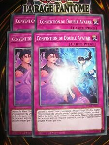 YU-GI-OH! PLAYSET (LOT DE 4) CONVENTION DU DOUBLE AVATAR PHRA-FR074 ED1 FRANCAIS