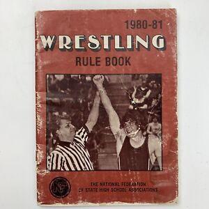 Wrestling Rule Book 1980-81 Vintage High School