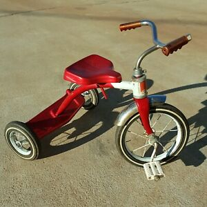 Vintage 1960's AMF Junior Tricycle Red and White Olney Illinois U.S.A 62450