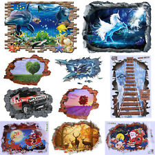 3D Removable Waterproof Wall Stickers Living Bedroom PVC Art Decals Mural Decor