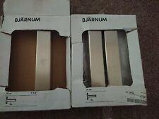 IKEA Bjarnum nickel plated shelf brackets, 19 cm 1 pair New 3 heavy solid solid