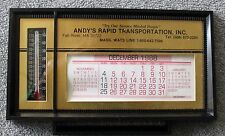 FALL RIVER Thermometer CALENDAR 1988 Advertising MASSACHUSETTS Andy's Transport