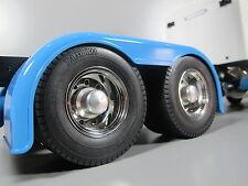 Pair Aluminum Rear Hub Cover Wheel Lock Nut Tamiya 1/14 King Grand Knight Hauler