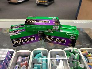5 BOXES!!! Fujifilm Pro 400H 120 Medium Format Film 5 Pro Packs 25 Rolls Total