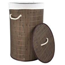 elegante bamb/ú para la colada HENNEZ/® XXL color beige Cesto para la colada con tapa de 100 L extra/íble
