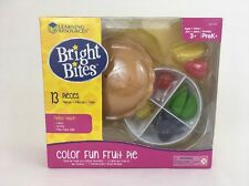 Bright Bites Learning Resources Color Fun Fruit Pie PreK 3+ Play Food 13 Pcs