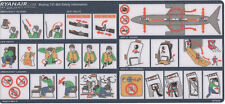 Safety Card / Ryanair / Boeing 737-800 / ca.2004 Adh. (RA813 REV.0 INT639) Blue