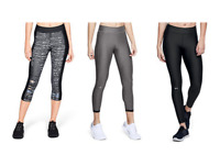 New Under Armour Womens Tech Athletic Cropped Yoga Pants - Wholesale Lot of 25