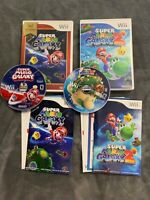 Super Mario Galaxy 1 & 2 Nintendo Wii Lot | Complete with Book | SHIPS FAST!