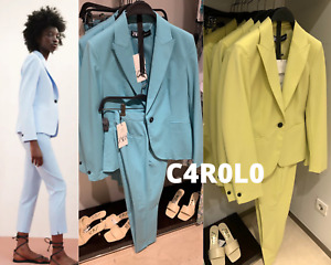 ZARA BLAZER WITH A LAPEL COLLAR LIME / LIGHT-BLUE / TURQUOISE 34-44 REF.2233/535