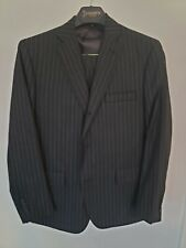 Brooks Brothers Own Make Black Wool Suit With Chalkstripe 42r. Pants 36x28.5