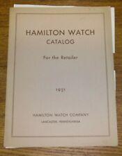 1931 Hamilton Watch Retailer Catalog COVER ONLY