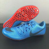 New Mens Nike Zoom JaFly 3 Track & Field Spikes Light Blue Red Sz 12 865633 446