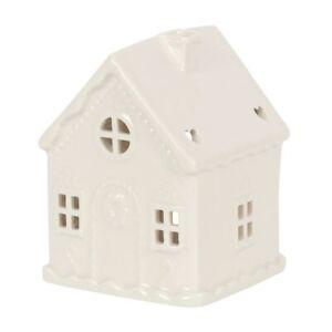 White Gingerbread House Ceramic Oil Burner