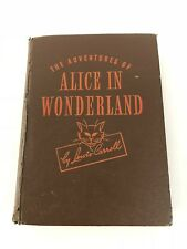 VINTAGE 1945 BOOK ~THE ADVENTURES OF ALICE IN WONDERLAND BY LEWIS CARROLL