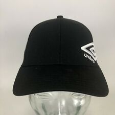 Umbro Soccer Player Relaxed Fit Black Football Dad Hat White Logo Cap