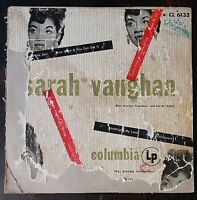 SARAH VAUGHAN & George Treadwell 10 inch LP 1950 - CL 6133 - FREE SHIPPING