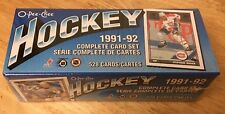 Set of 4-1991-92 O-PEE-CHEE HOCKEY FACTORY SETS