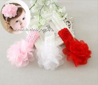 Baby headband infant girls Crochet Headband chiffon flower girl Hair Accessories