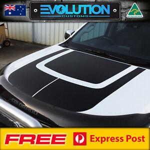 3-PIECE Bonnet Decal Sticker Kit SUITS Facelift Holden Colorado 2016 - 2020