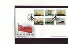 GB 2013 Merchant Navy ships Queen Elizabeth Cutty Sark Atlas FDC Greenwich pmk