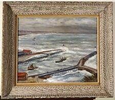Henry-Emile BUREL 1883-1967 - '' Entrée du port de Fécamp '' - 1943