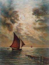 Tableau marine peinture Bretagne voilier breton bateau vieux gréement mer océan