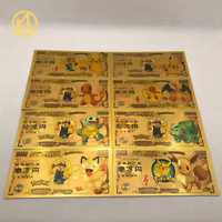 8 types Anime Pikachu Gold banknote japan 10000 Yan banknote Collection