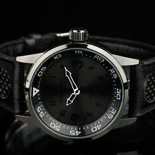 INFANTRY Mens Analog Wrist Watch Fashion Sport Tactical Army Black Leather