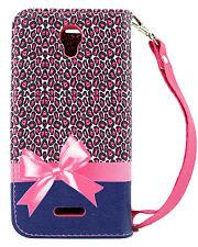 Pink Ribbon Credit Card Holder Wallet Flip Case Alcatel OneTouch POP Astro 5042N