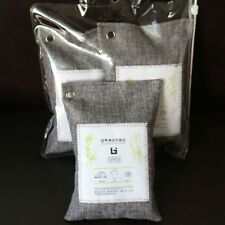 2 Bags Bamboo Charcoal Activated Bag  Carbon Closet Air Purifier Odour Absorber