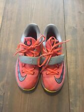 best service 1d3cd 82c81 Nike KD VII 35,000 Degree Boy s Mango Gray Basketball Shoes Sz 2.5   669944-