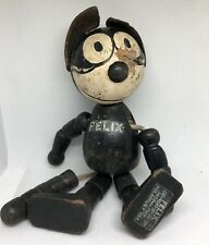 Rare Vintage Felix the Cat 8� Wood Jointed Figurine Toy Patented Sullivan 1927