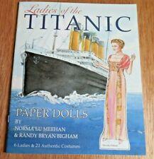 "NEW! ""Ladies of the Titanic"" Paper dolls w 6 Dolls & 21 Authentic Costumes"