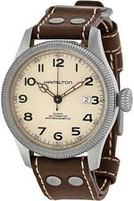 Hamilton Khaki Field Pioneer Leather Automatic Mens Watch H60455593