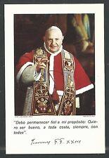 Holy card del Papa Juan XXIII santino image pieuse estampa