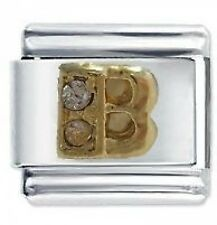 CRYSTAL LETTER B - Daisy Charms by JSC Fits Classic Size Italian Charm Bracelet
