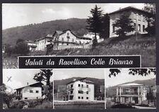 LECCO COLLE BRIANZA 06 RAVELLINO SALUTI da... Cartolina FOTOGRAFICA viagg. 1968