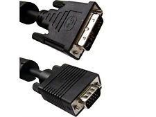 10Ft. (10 Feet) DVI-A Analog Male to HD-15 VGA Male (12+5 Pin) Dual Link Cable
