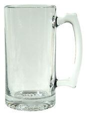 Barware Clear Glass Beer Mug 26.5oz Stein (Big n Heavy Clear Glass)