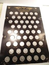 Collection of 50 medals-- the family of the States forming the United State